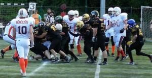 A védelem ezúttal touchdownt sem engedett (Pásztor Péter)